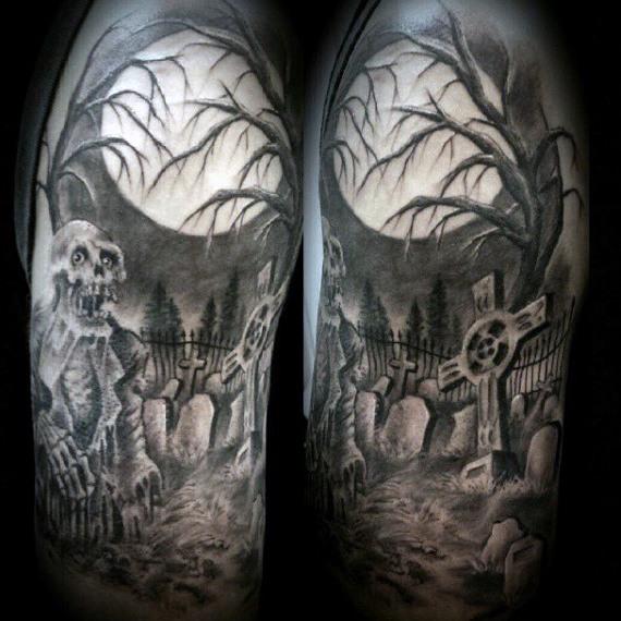 graveyard tattoos photo - 10
