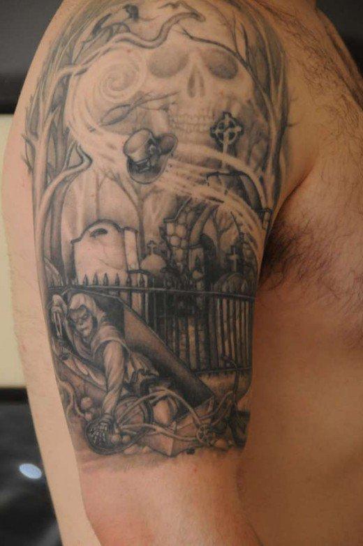 graveyard tattoos photo - 15