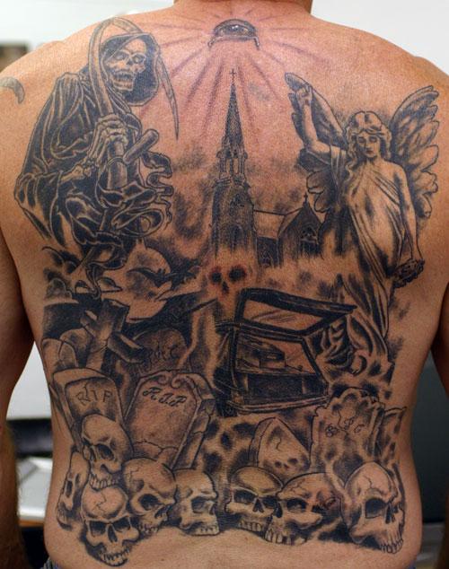 graveyard tattoos photo - 16