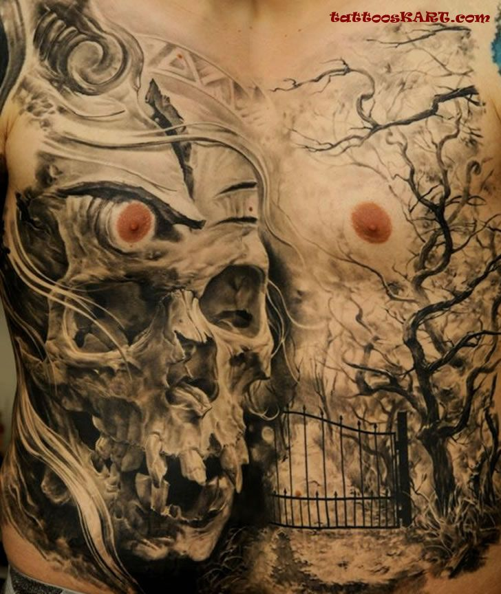 graveyard tattoos photo - 18