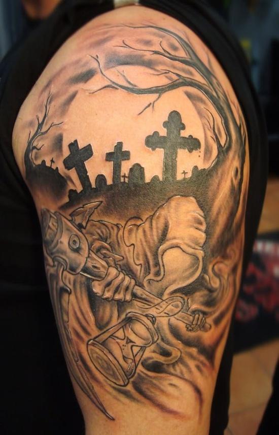 graveyard tattoos photo - 2