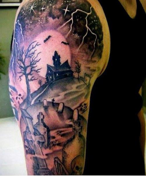 graveyard tattoos photo - 25