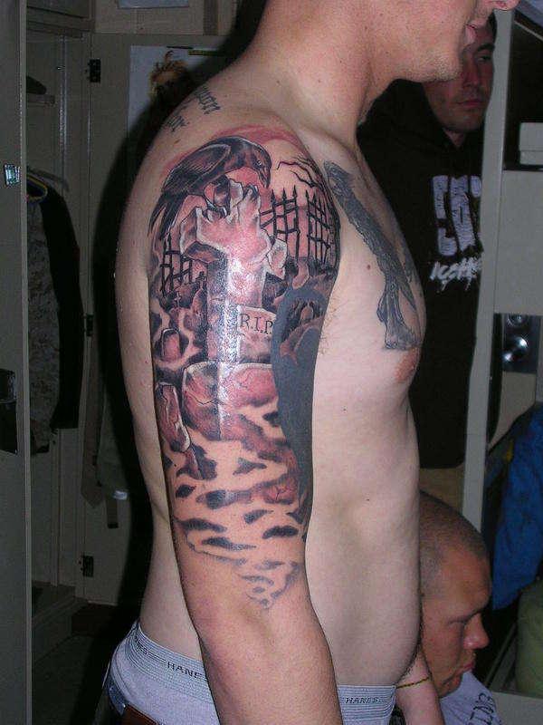graveyard tattoos photo - 32