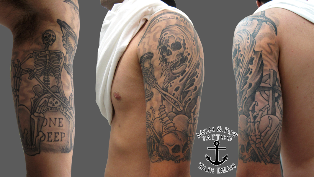 graveyard tattoos photo - 33