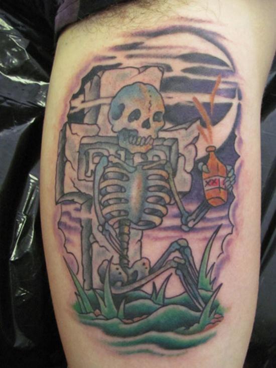 graveyard tattoos photo - 35
