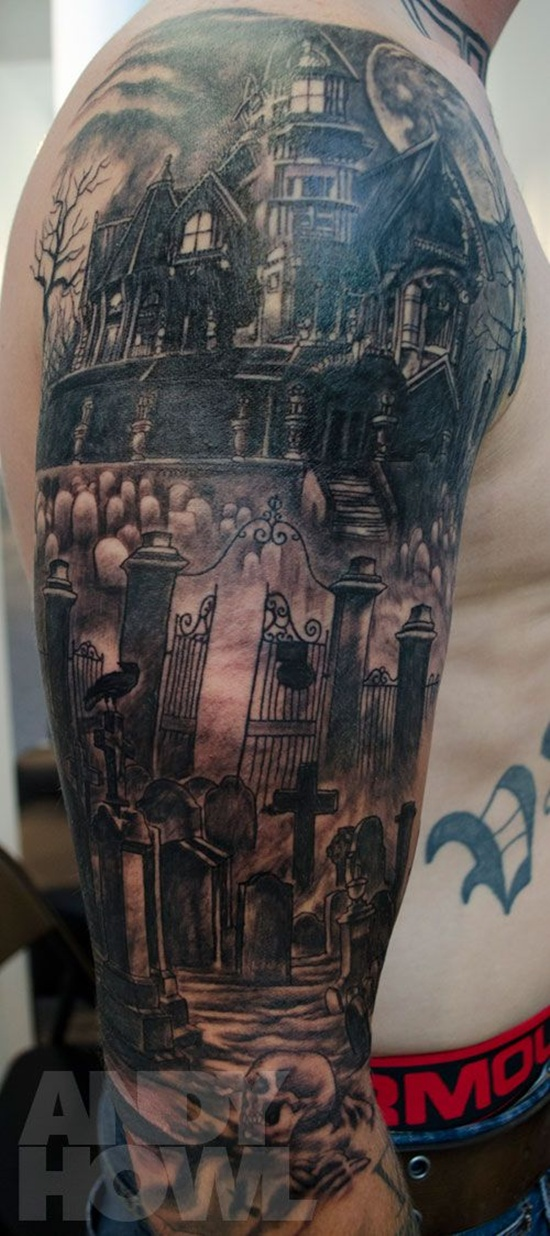 graveyard tattoos photo - 4