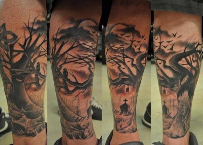 graveyard tattoos photo - 6
