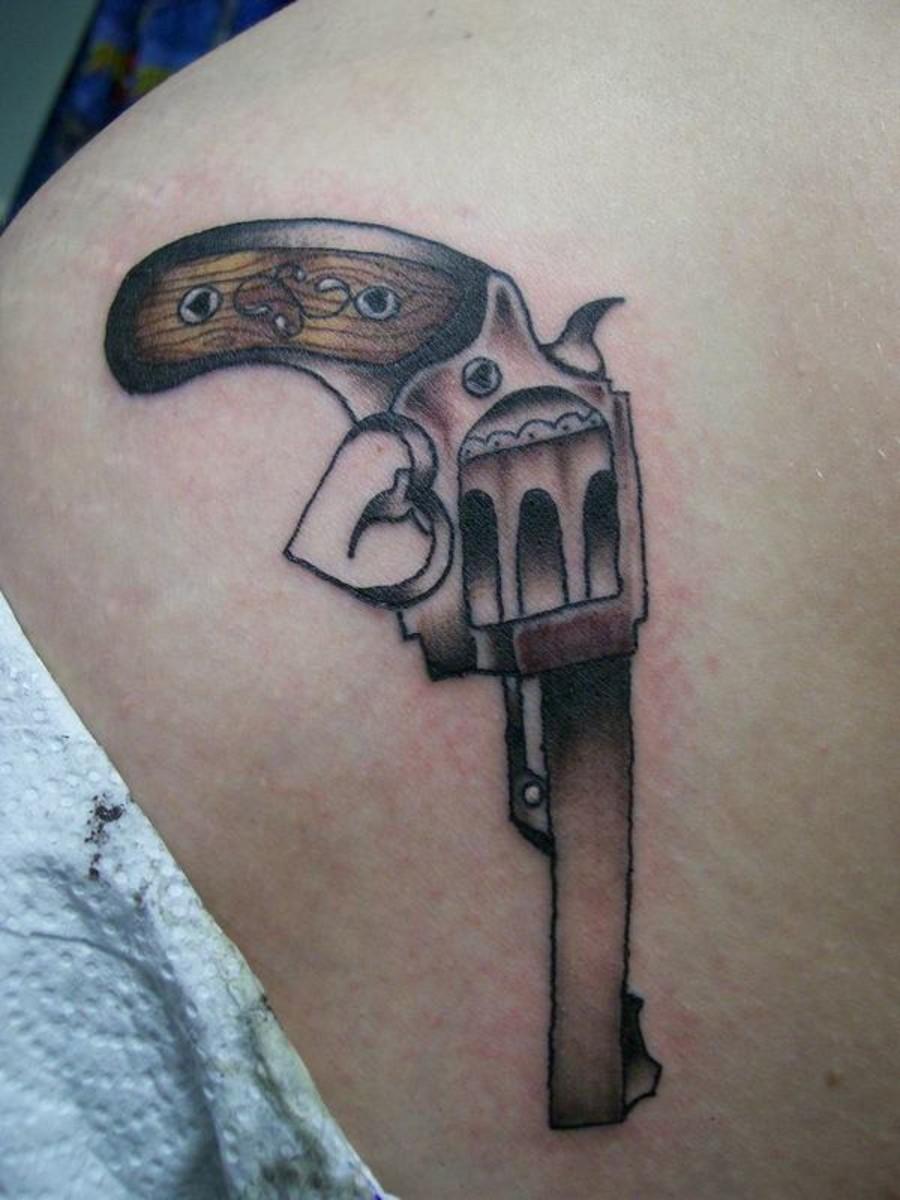 gun tattoos photo - 36