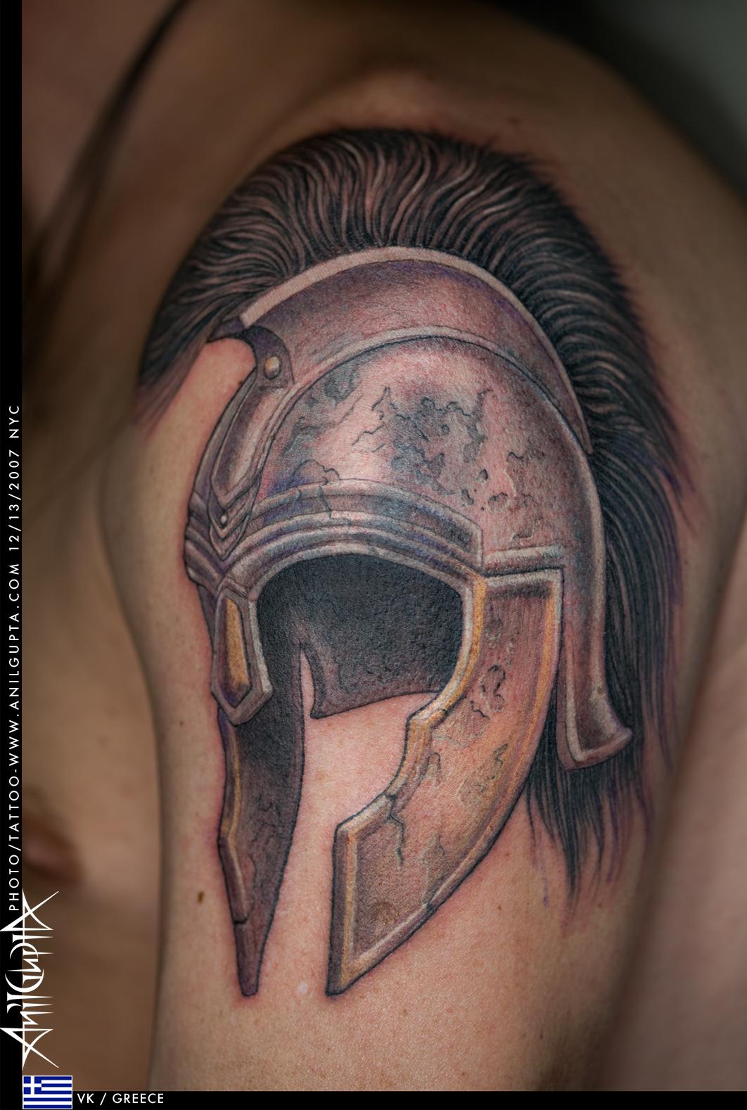 helmet tattoos photo - 2