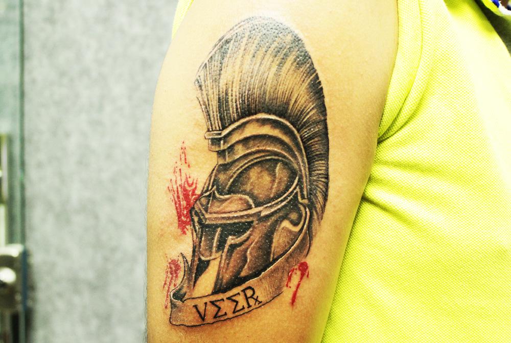 helmet tattoos photo - 30