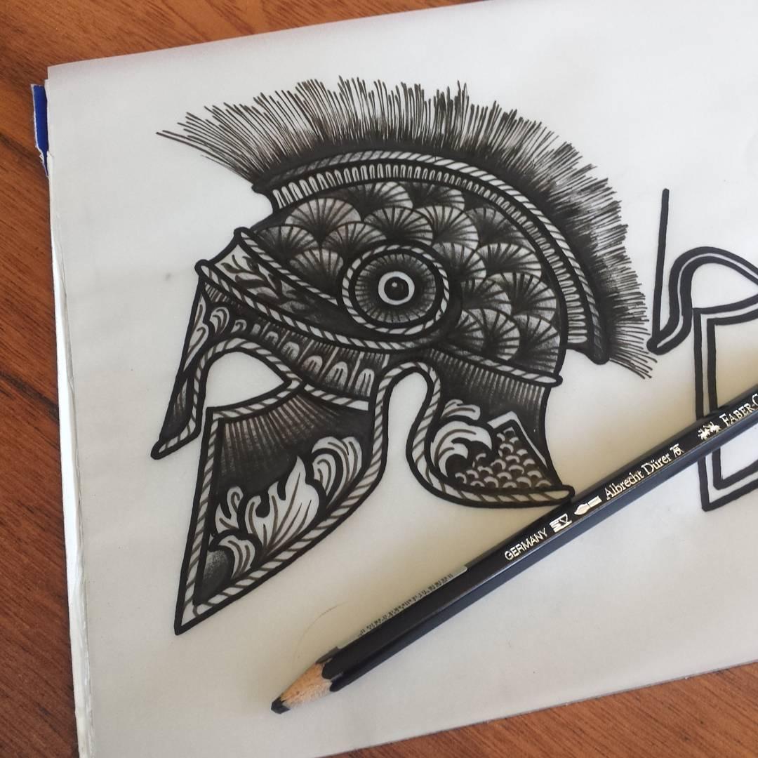 helmet tattoos photo - 35