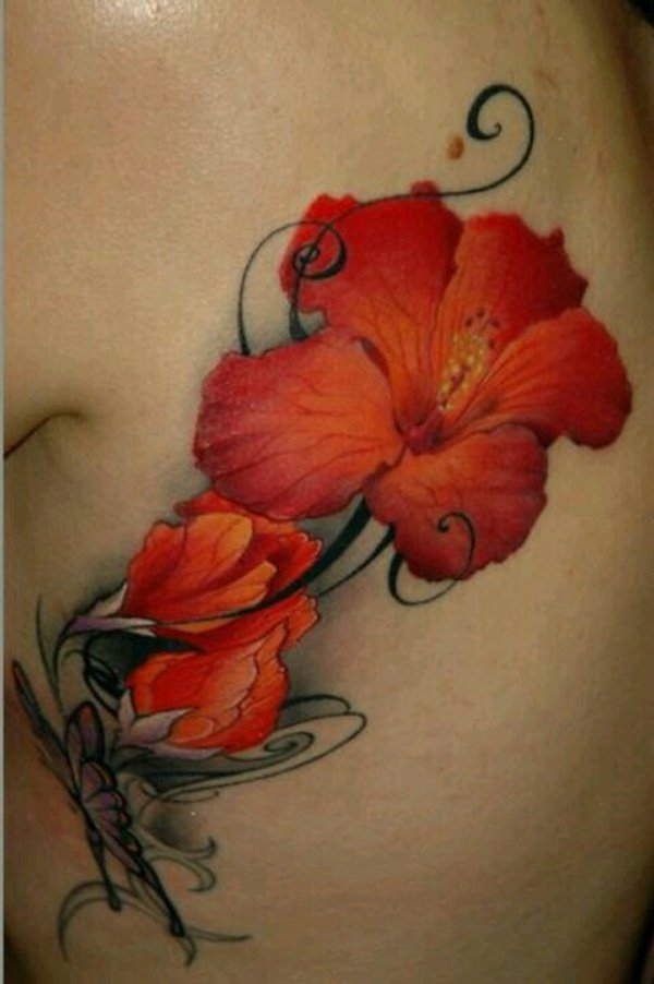 hibiscus tattoos photo - 12