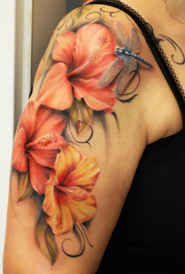hibiscus tattoos photo - 16