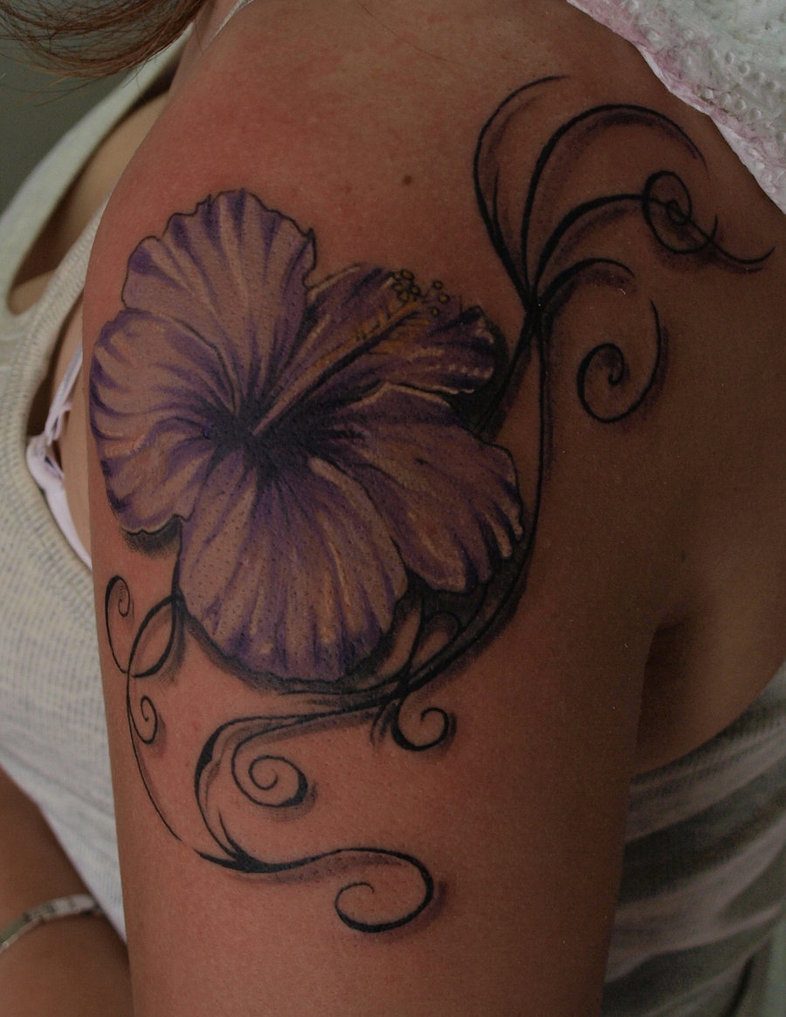 hibiscus tattoos photo - 17