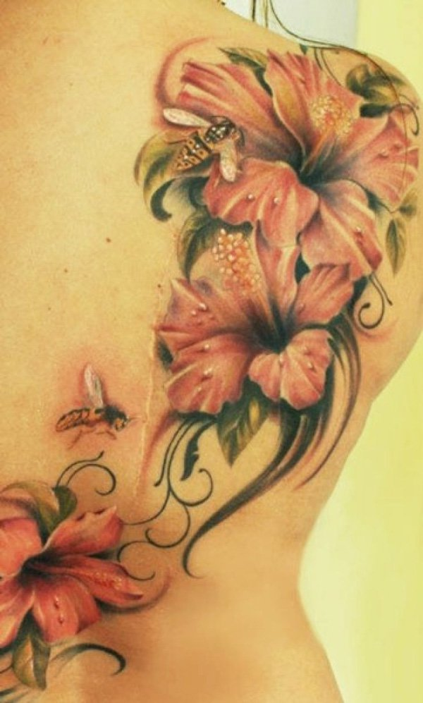 hibiscus tattoos photo - 18