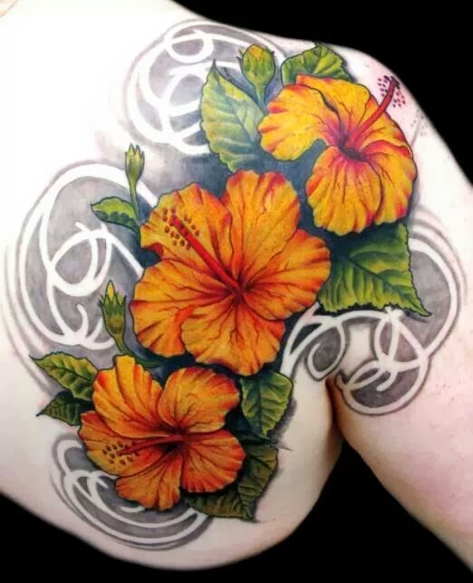 hibiscus tattoos photo - 25