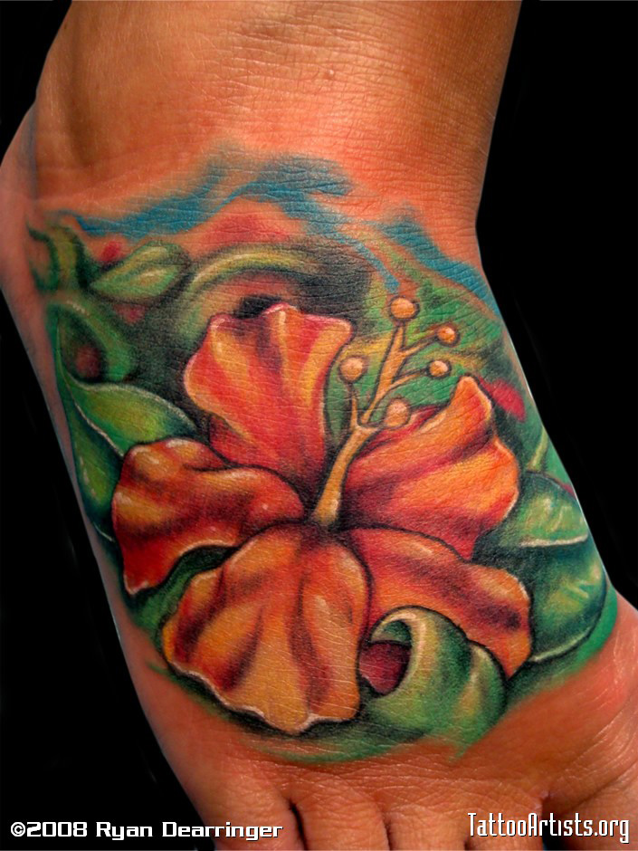 hibiscus tattoos photo - 29