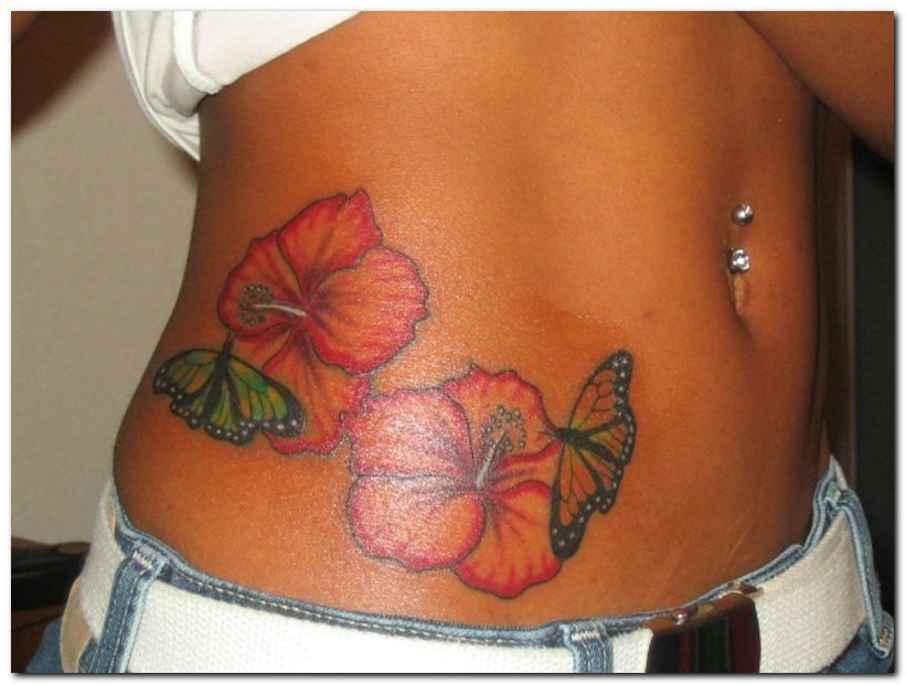 hibiscus tattoos photo - 30