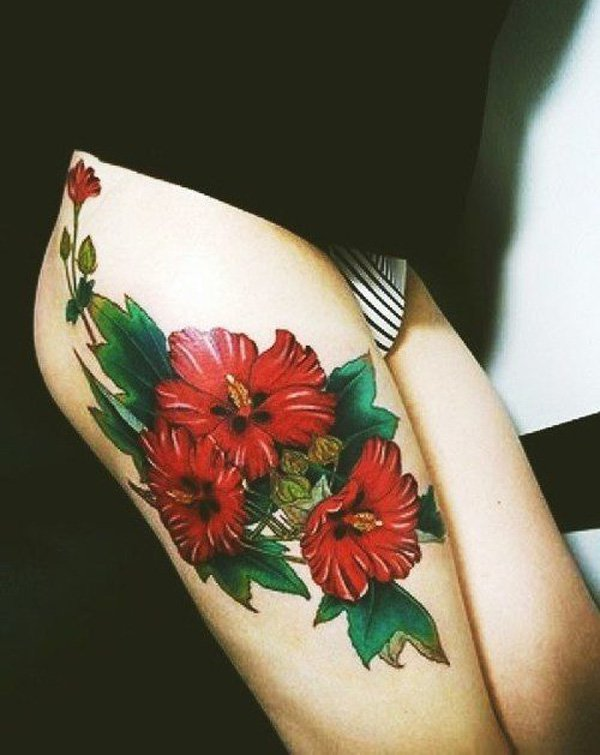 hibiscus tattoos photo - 31
