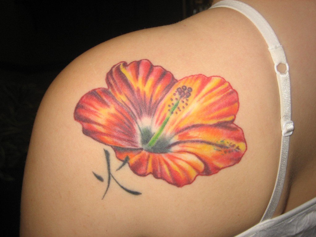 hibiscus tattoos photo - 5