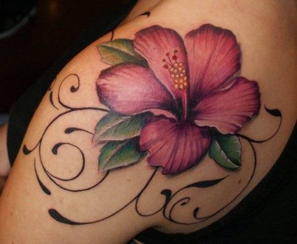 hibiscus tattoos photo - 6