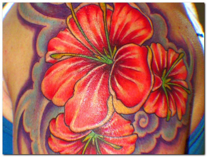 hibiscus tattoos photo - 8