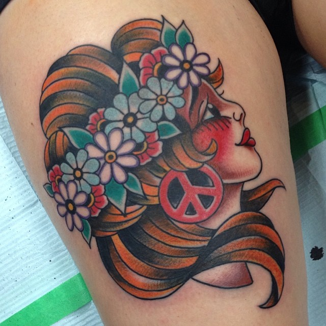 hippie tattoos photo - 25
