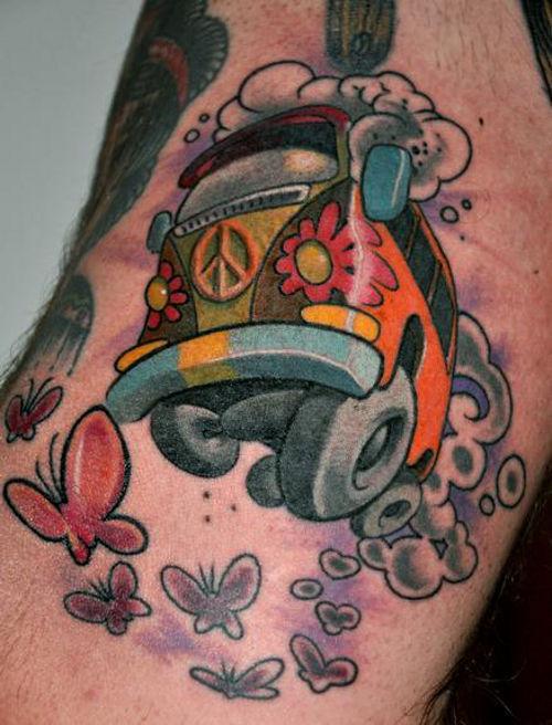 hippie tattoos photo - 31