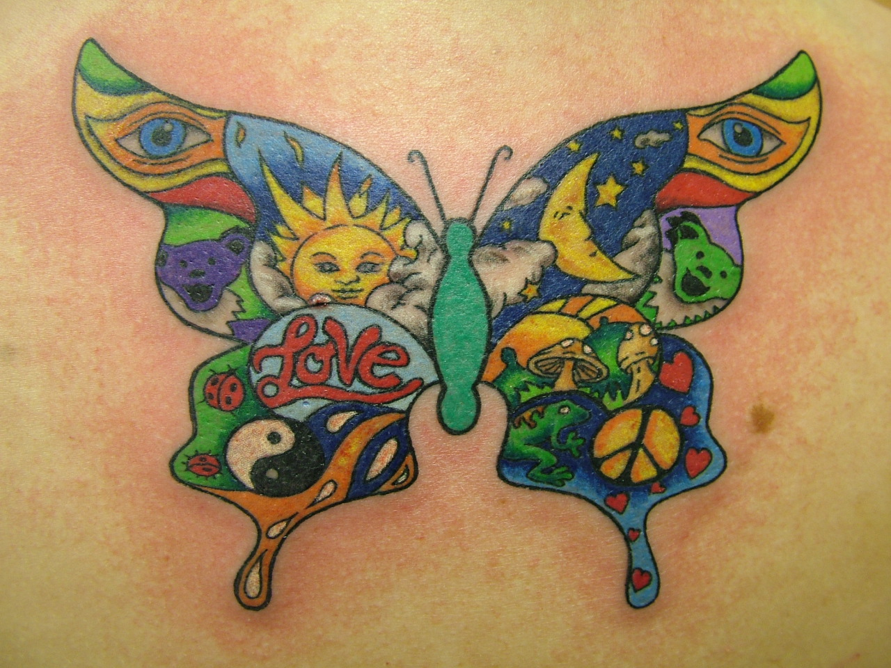 hippie tattoos photo - 7