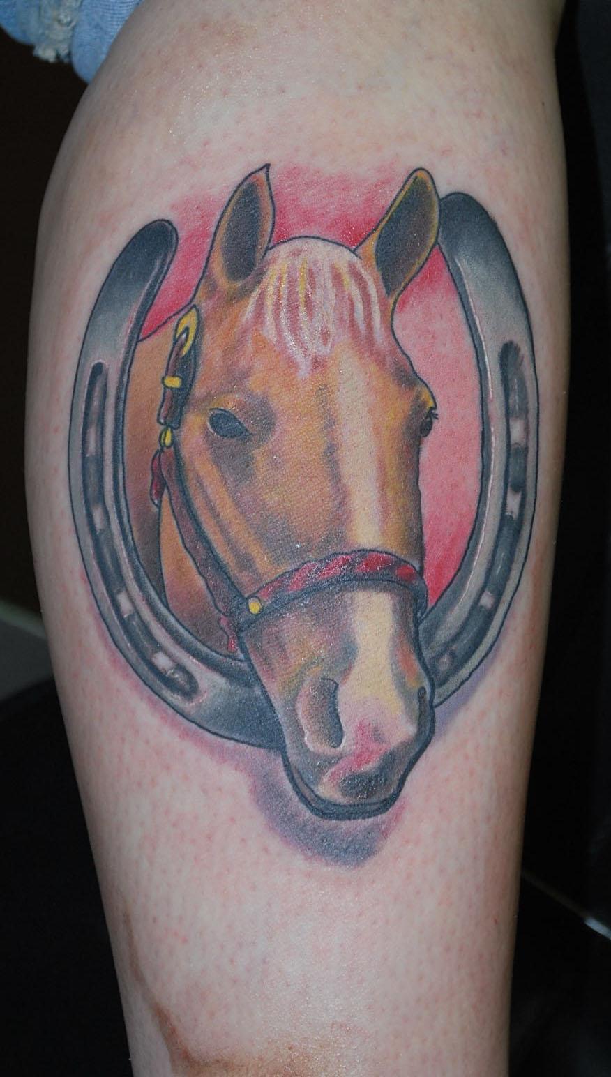 horse & horseshoe tattoos photo - 1