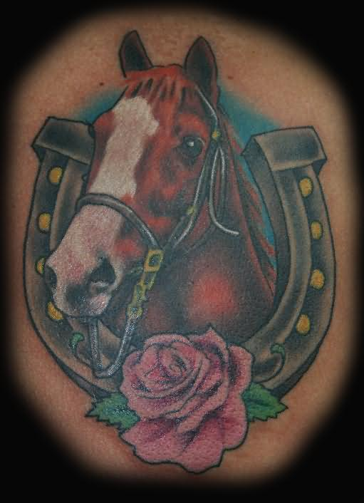 horse & horseshoe tattoos photo - 19