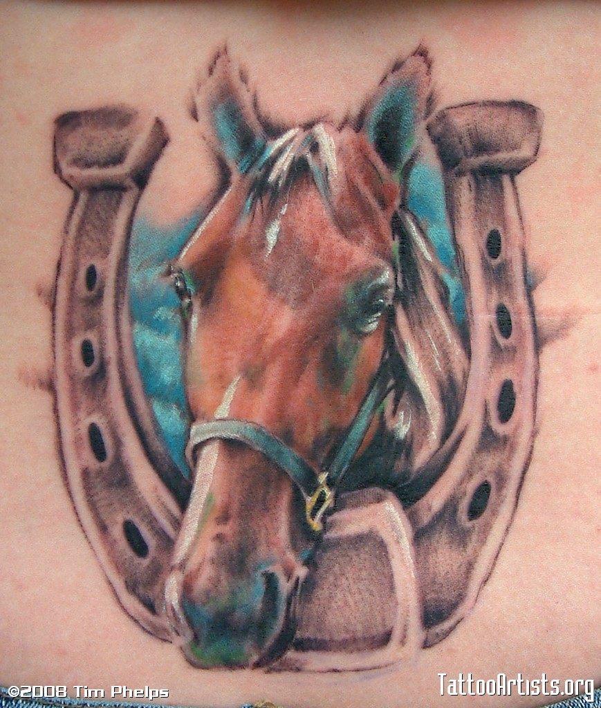 horse & horseshoe tattoos photo - 21