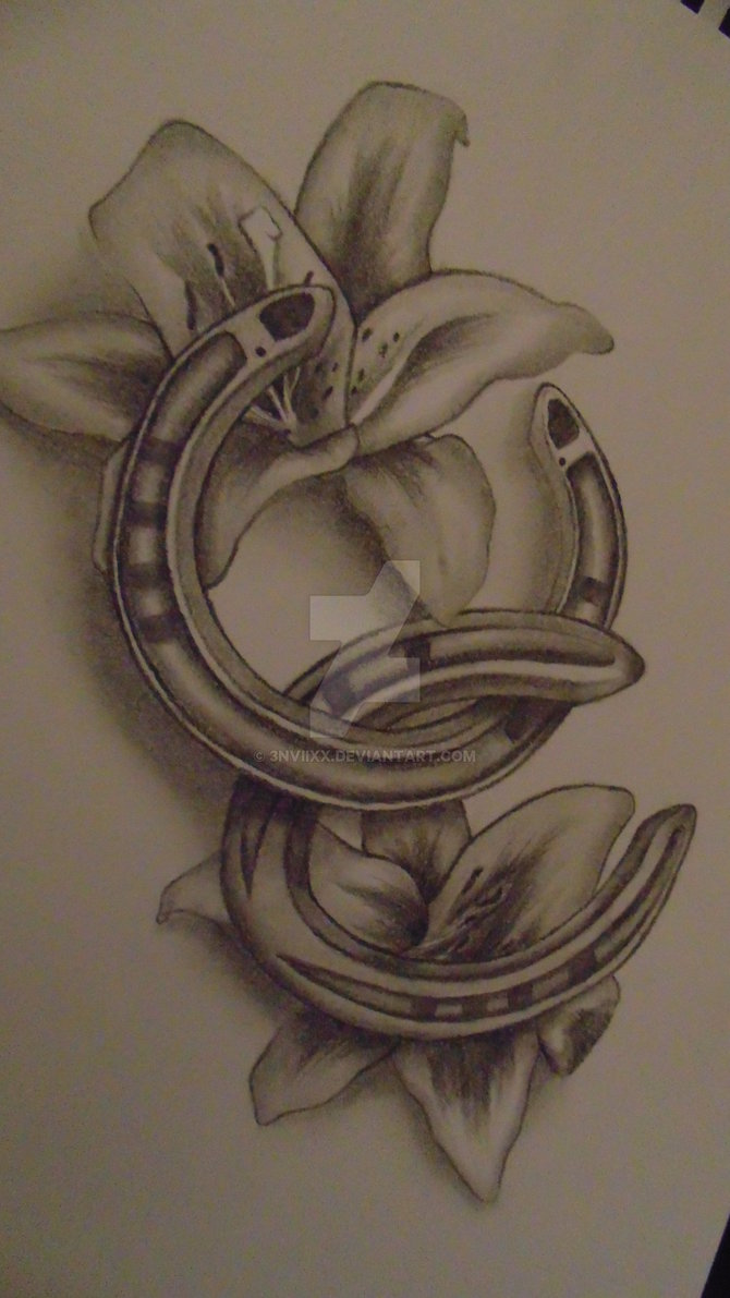 horse & horseshoe tattoos photo - 24