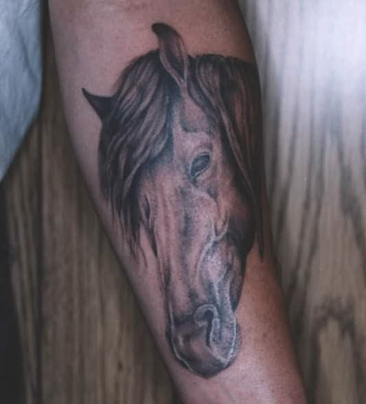 horse & horseshoe tattoos photo - 33