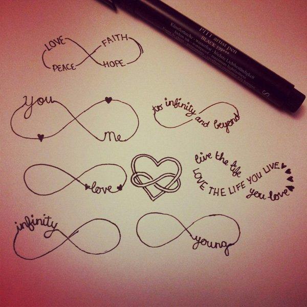 infinity symbol tattoos photo - 2