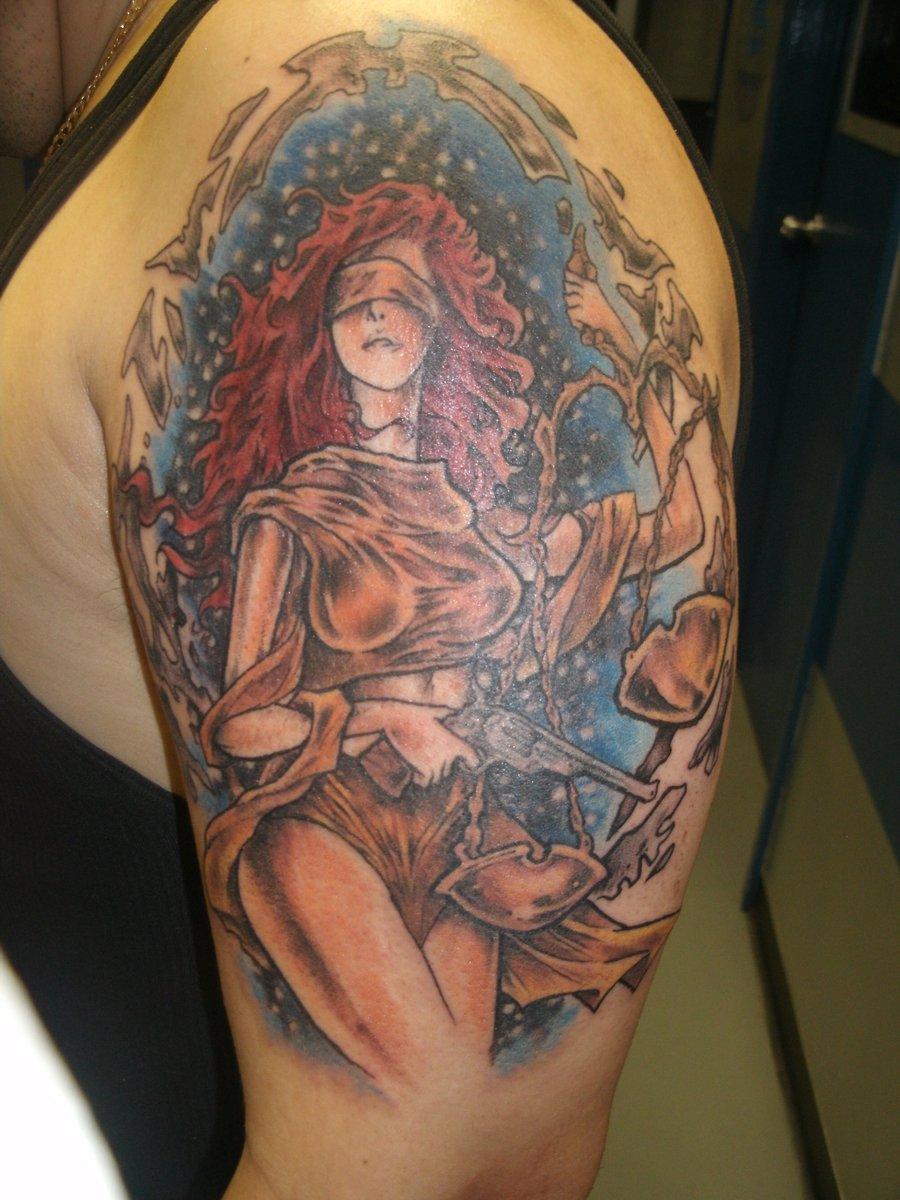 justice tattoos photo - 15