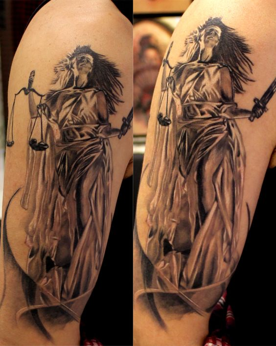 justice tattoos photo - 24