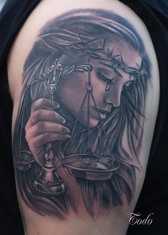 justice tattoos photo - 30