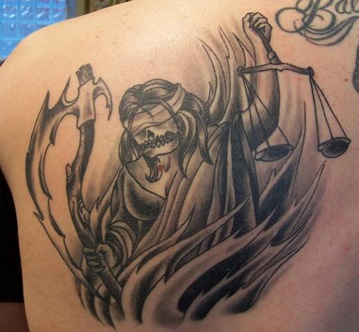 justice tattoos photo - 35