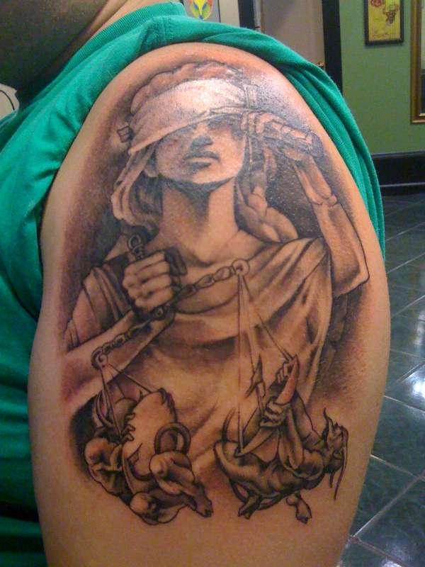 justice tattoos photo - 5