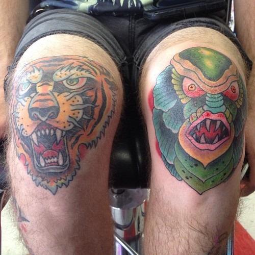 knee tattoos photo - 2