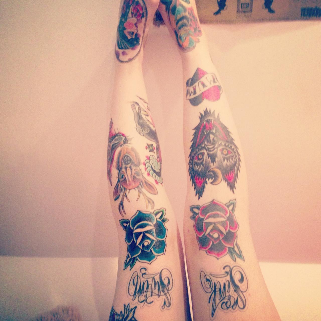 knee tattoos photo - 6