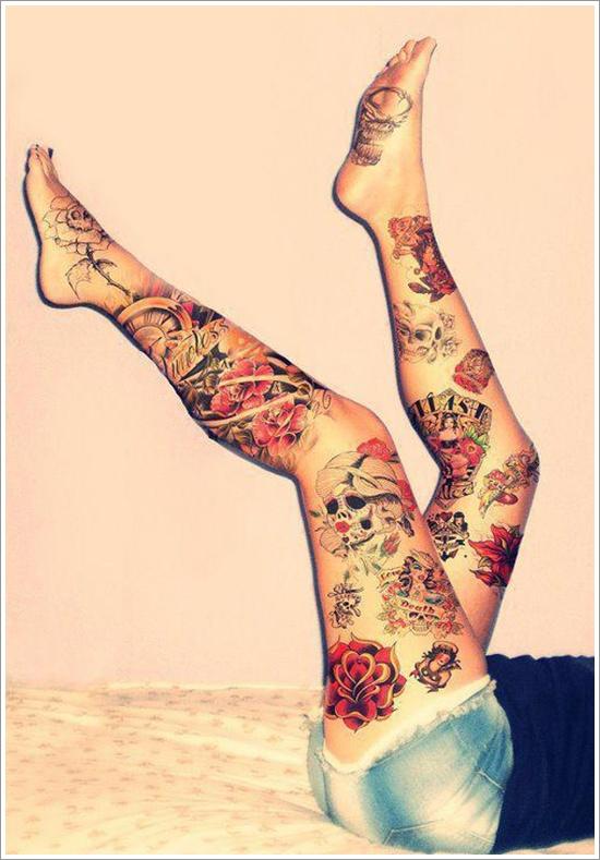 leg tattoos photo - 16