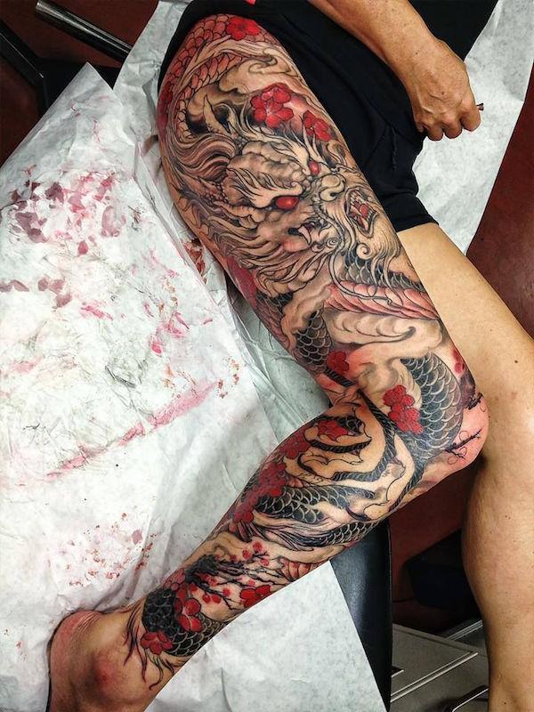 leg tattoos photo - 17