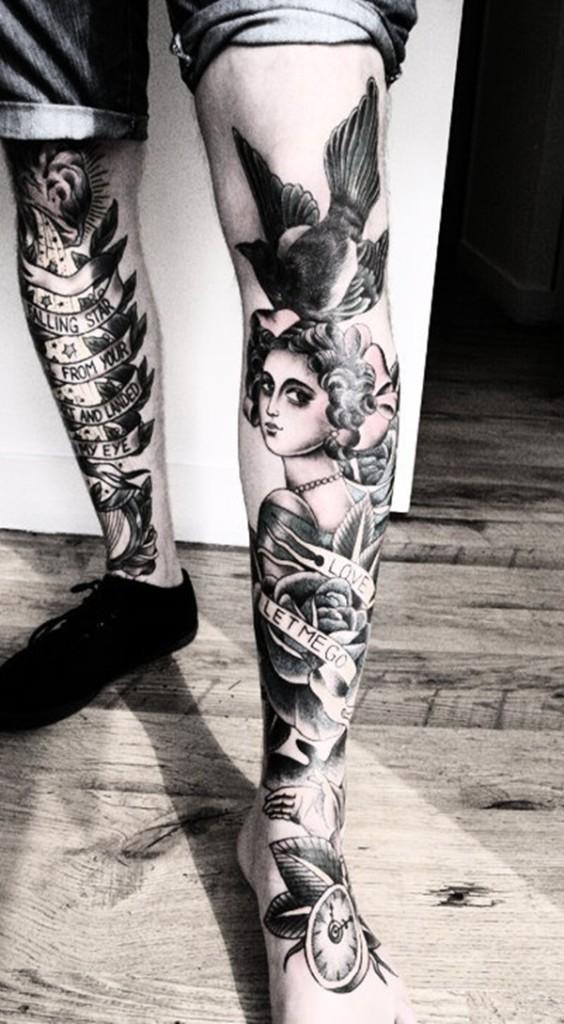 leg tattoos photo - 27