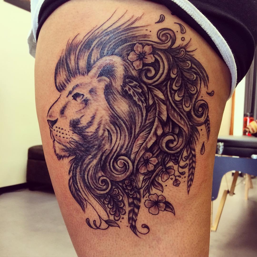 leo tattoos photo - 28
