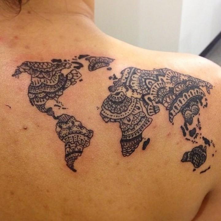 map tattoos photo - 10