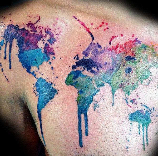 map tattoos photo - 12