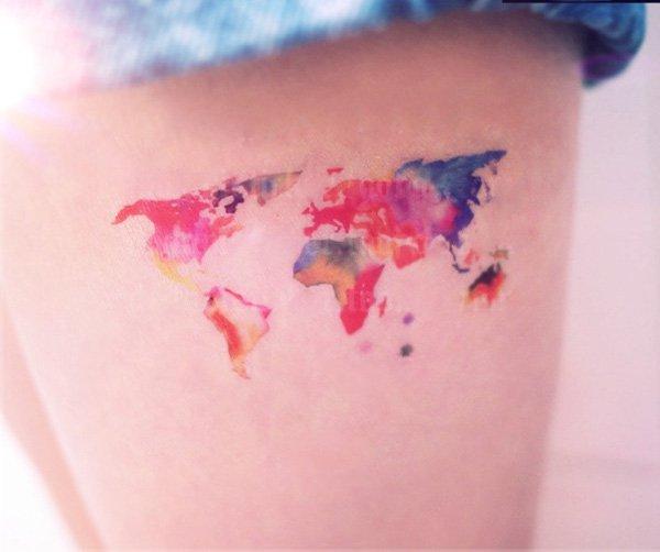 map tattoos photo - 18