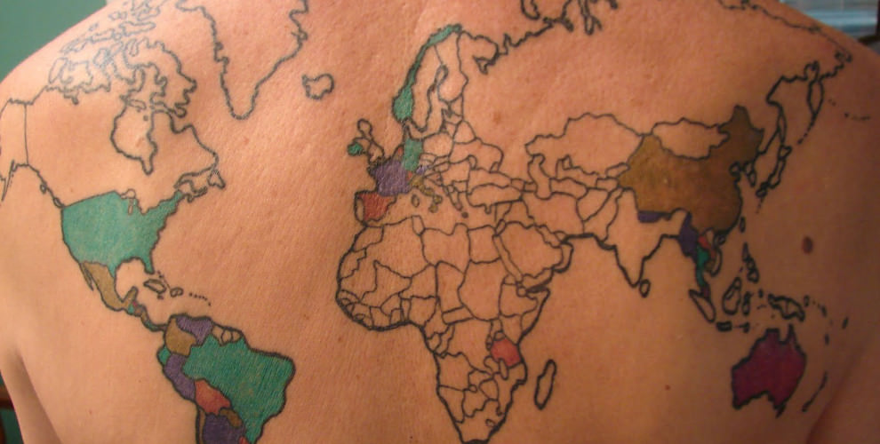 map tattoos photo - 2
